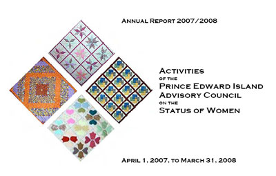 PEI Advisory Council on the Status of Women Annual Report 2007-2008