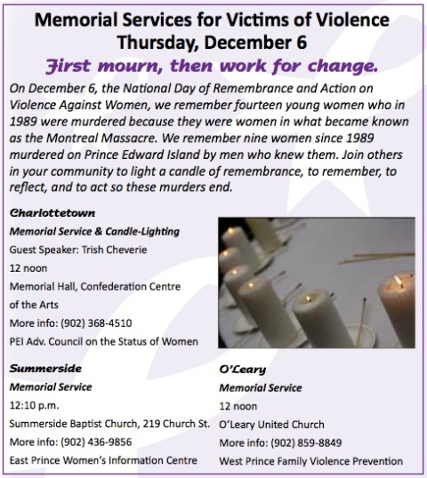 2012 Memorial Services for Victims of Violence