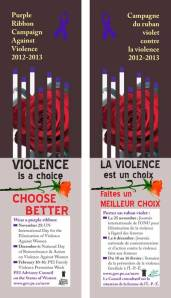 purple ribbon campaign bookmarks