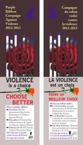 purple ribbon campaign bookmarks