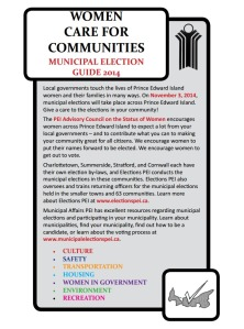 """Women Care for Communities"" Municipal Election Guide 2014"