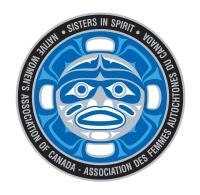 """NWAC Sisters in Spirit logo """"Grandmother Moon"""" NWAC Sisters in Spirit logo """"Grandmother Moon""""/"""" Grandmère Lune """" est le logo du projet Soeurs par l""""esprit de l""""AFAC"""