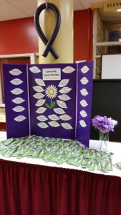 Purple ribbon display (Medium)