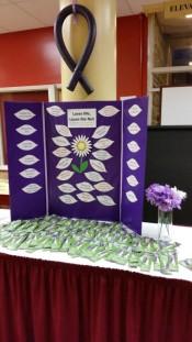 Purple ribbon display (Medium)