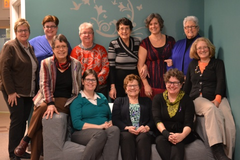 Council members and staff at their recent meeting in Charlottetown: Back row: Becky Tramley, Kelly Robinson, Diane Lariviere, Louise MacLeod, Michelle Jay, Catherine Rankin; Front row: Mari Basiletti, Patti Wheatley, Yvonne Deagle, Jane Ledwell, and Melissa Mullen.