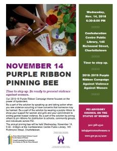 2018-purple-ribbon-pinning-bee-poster